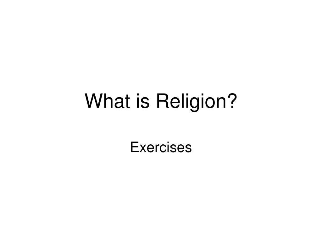 what is religion l.