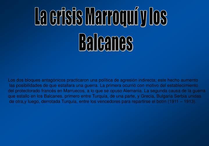 La crisis Marroquí y los