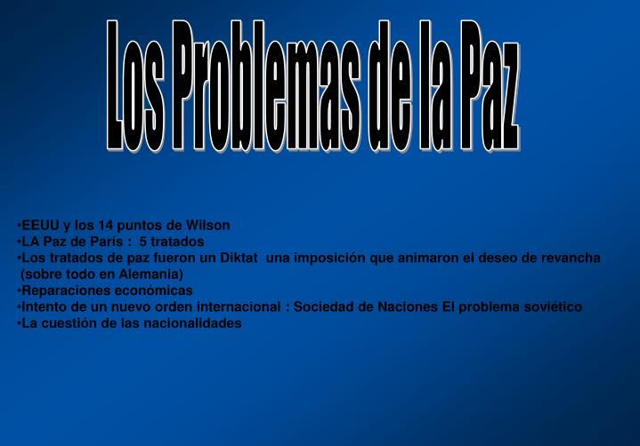 Los Problemas de la Paz