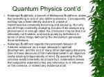 quantum physics cont d
