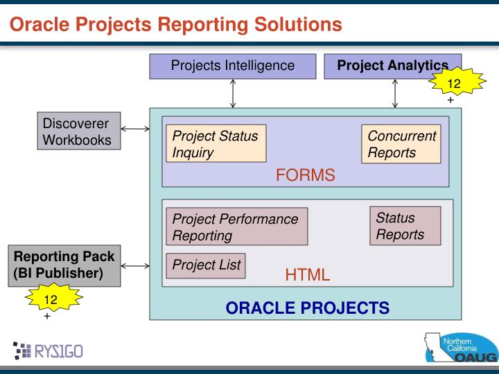 Oracle projects reporting solutions