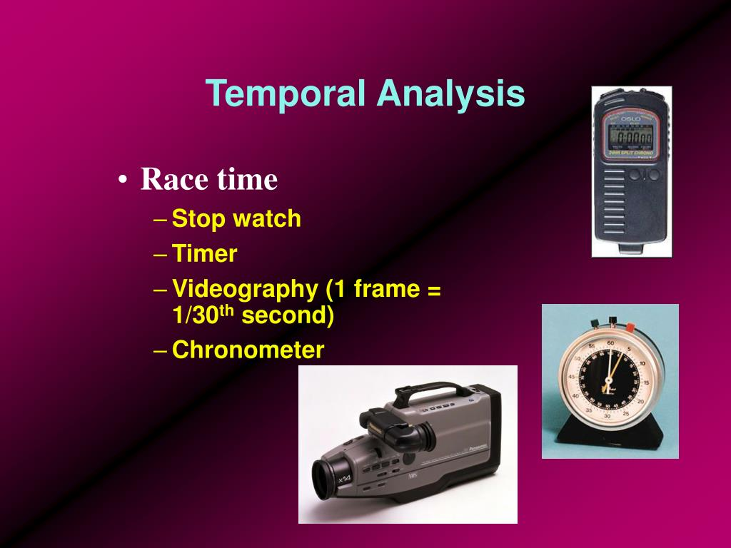 Temporal Analysis