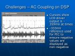 challenges ac coupling on dsp