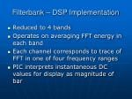 filterbank dsp implementation