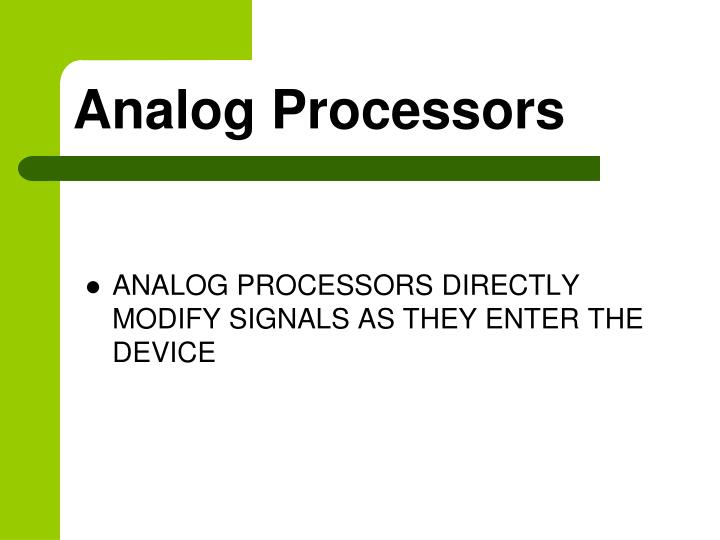 Analog processors
