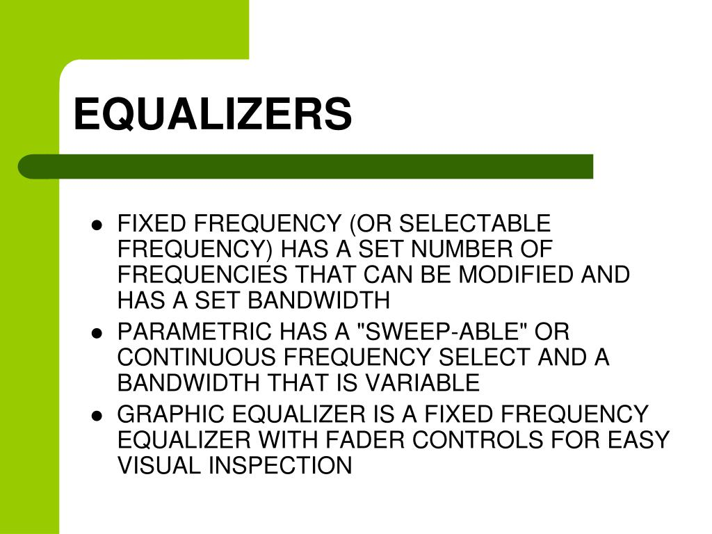 EQUALIZERS