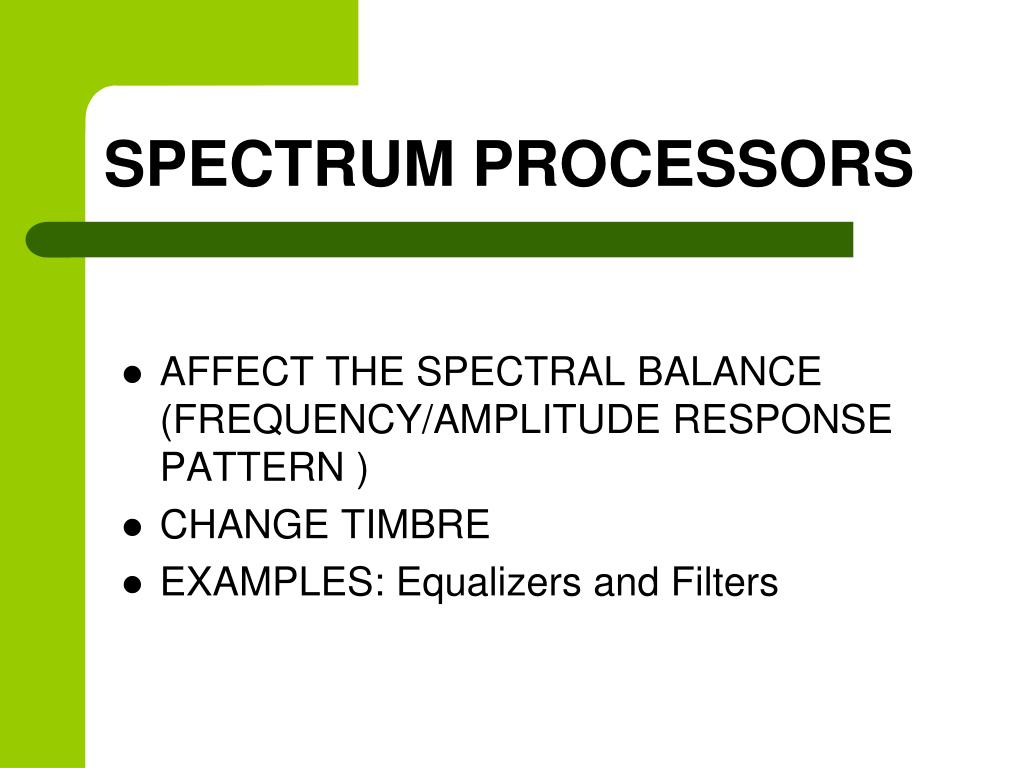 SPECTRUM PROCESSORS
