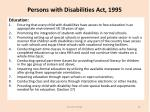persons with disabilities act 19951
