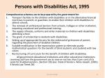 persons with disabilities act 19952