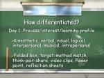 how differentiated6