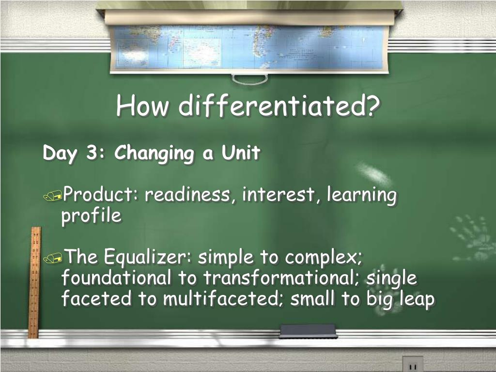 How differentiated?