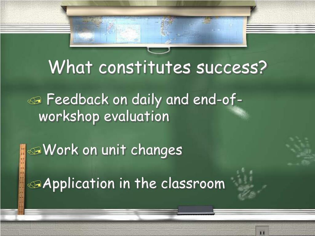 What constitutes success?