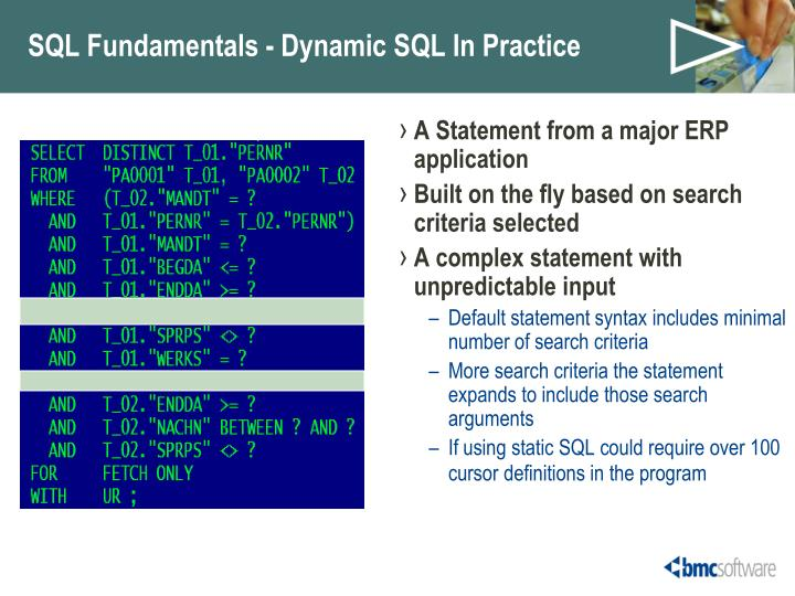 SQL Fundamentals - Dynamic SQL In Practice