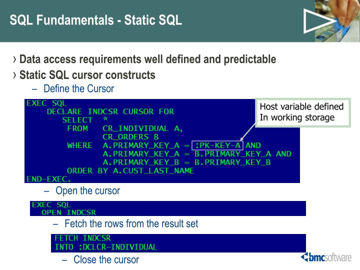 Data access requirements well defined and predictable