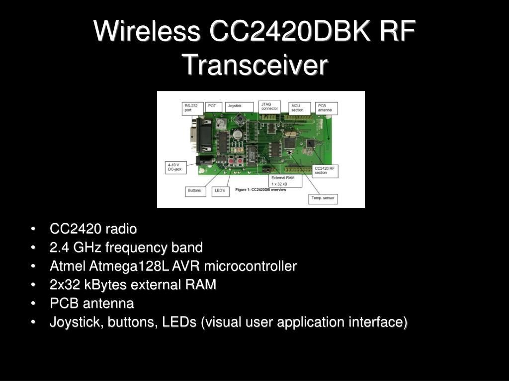 Wireless CC2420DBK RF Transceiver