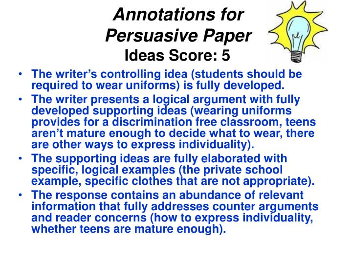 Annotations for