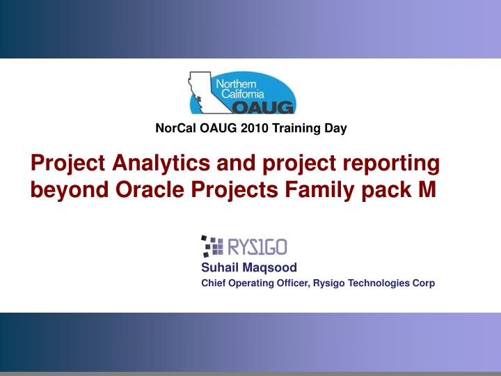 project analytics and project reporting beyond oracle projects family pack m n.
