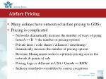 airfare pricing