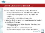 growth channel the internet cont