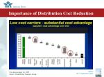 importance of distribution cost reduction