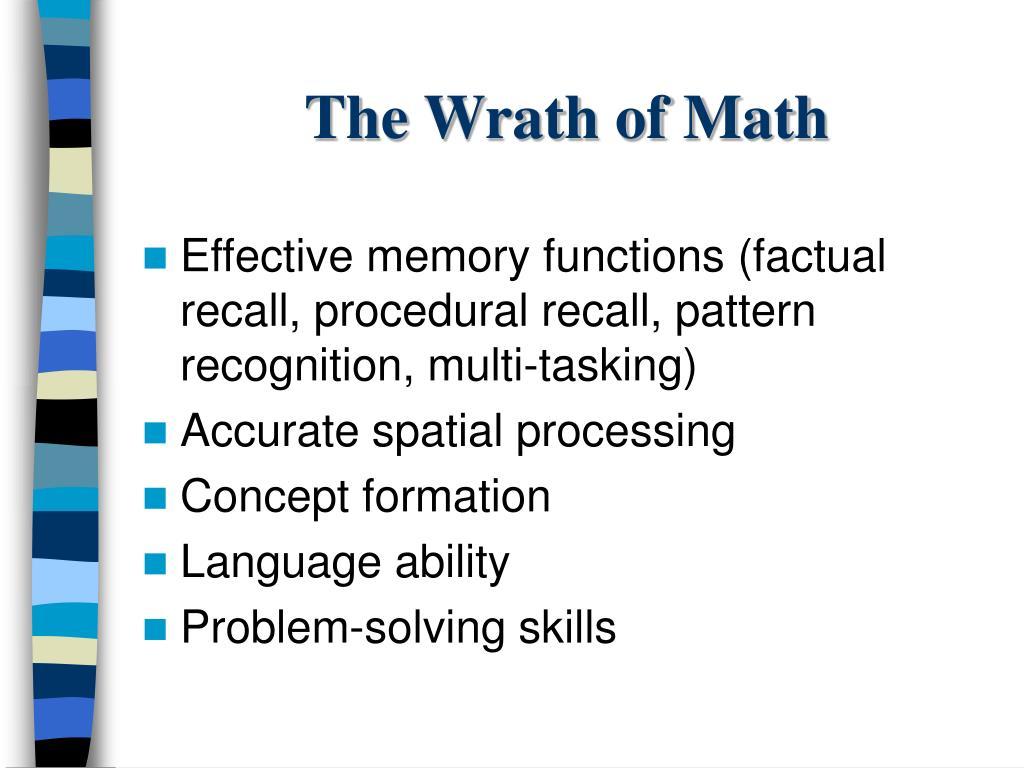 The Wrath of Math