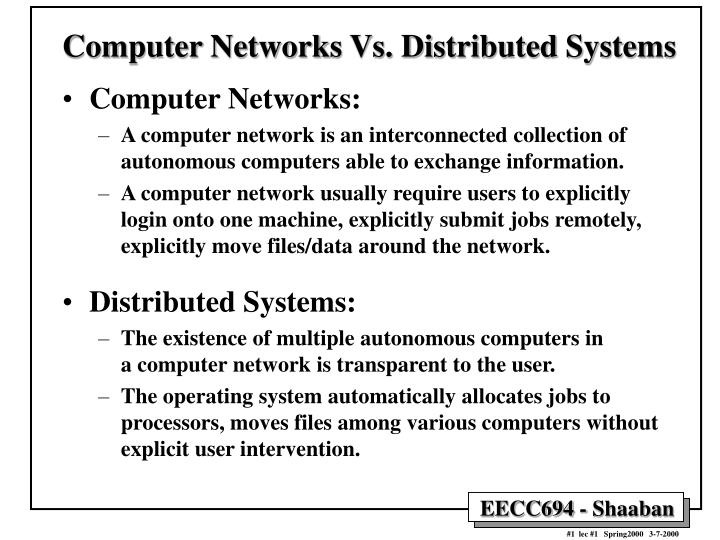 PPT - Computer Networks Vs  Distributed Systems PowerPoint