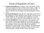 forms of equations of lines