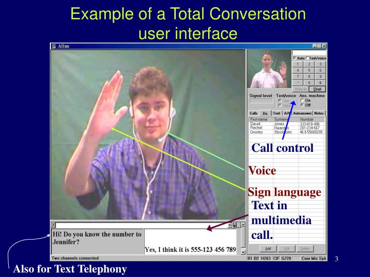 A total conversation user interface