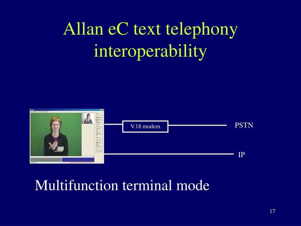 Allan eC text telephony interoperability