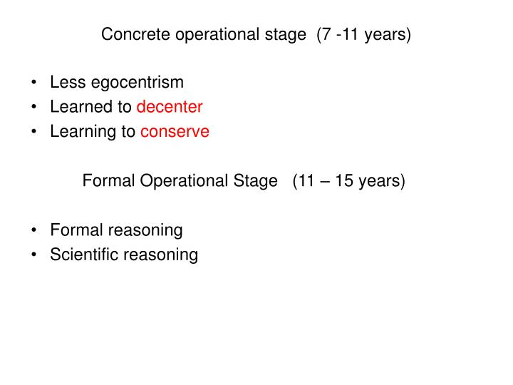 concrete operational stage egocentrism