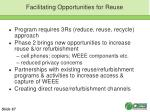 facilitating opportunities for reuse