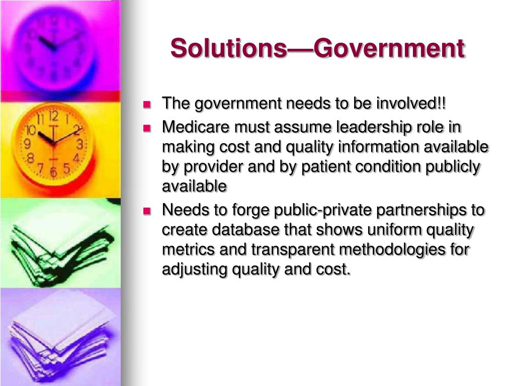 Solutions—Government