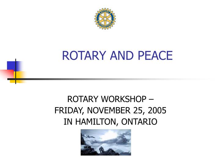 rotary and peace n.