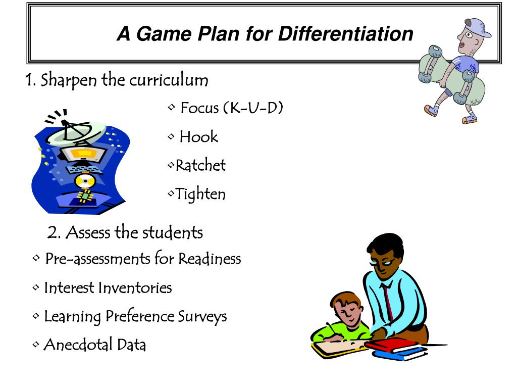 A Game Plan for Differentiation