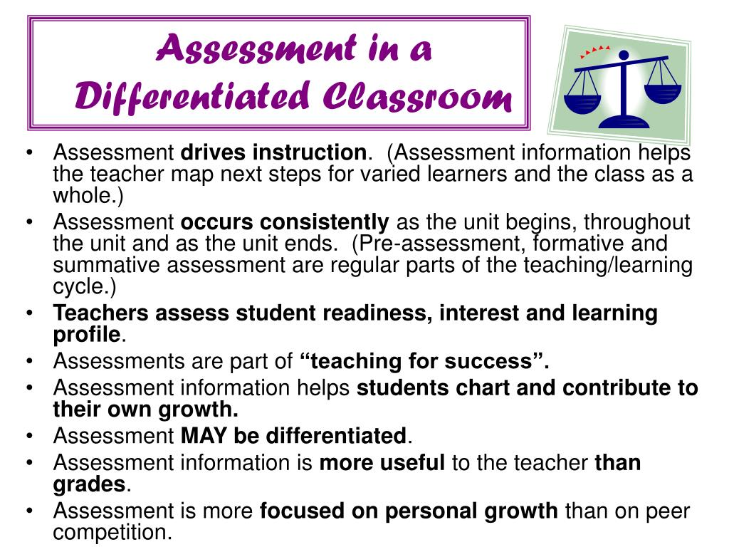 Assessment in a
