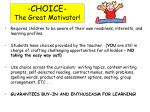 choice the great motivator