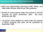 agricultural debt waiver debt relief scheme