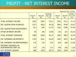 profit net interest income