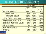 retail credit domestic