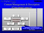 content management description conceptual aspects