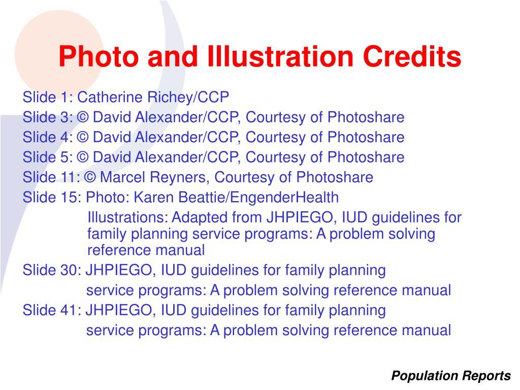 Photo and Illustration Credits