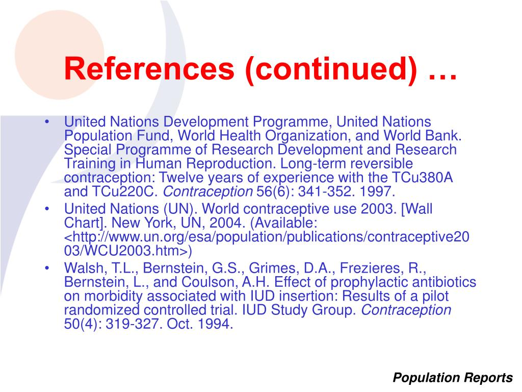 References (continued) …
