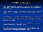 csp2007 methodology