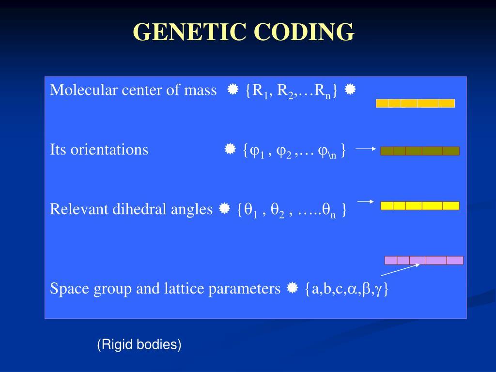 Molecular center of mass