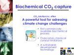 biochemical co 2 capture