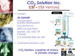 co 2 solution inc cst tsx venture