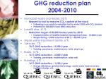 ghg reduction plan 2004 2010