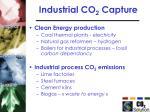 industrial co 2 capture