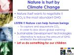 nature is hurt by climate change