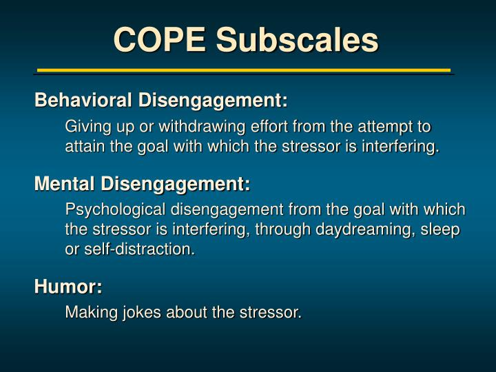 COPE Subscales